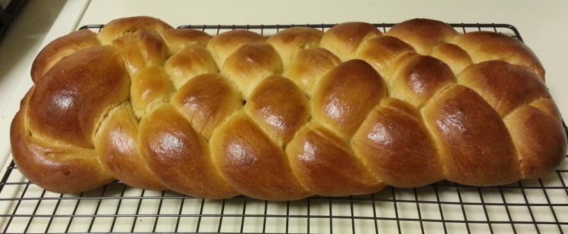 whole wheat challah 5 strand braid