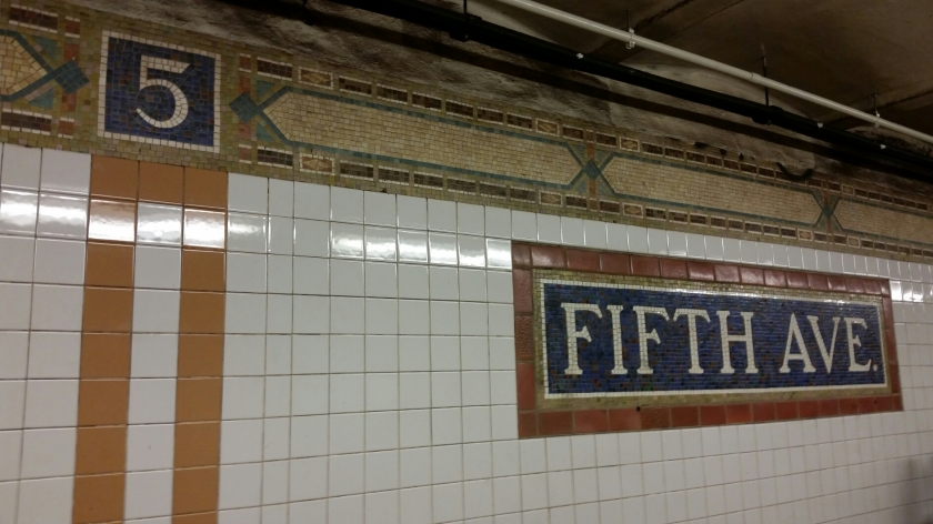 Fifth avenue tile mosaic in